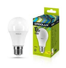 <b>Светодиодная лампа Ergolux LED</b>-<b>A60</b>-<b>10W</b>-E27-3K ...