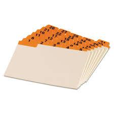 Tabbed Index Cards 4x6 Laminated Tab Index Card Guides Daily 1 5 Tab Manila 4 X 6 31