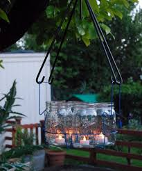 outdoor garden candle chandelier
