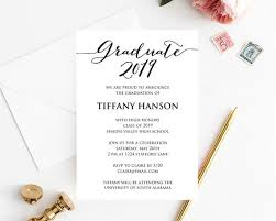 Graduation Announcements Template Graduation Invitation Graduation Announcement Graduation Card Class Of 2019 High School Graduation Invitation Invitation Template