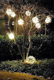 outdoor lighting balls. DIY Outdoor Christmas Ornaments Made From Chicken Wire And A Strand Of  Lights. We Outdoor Lighting Balls