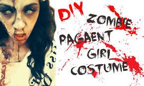 diy zombie pageant girl costume hair makeup diy costume