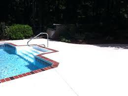 concrete pool deck paint ideas pool