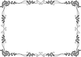 枠飾り枠飾り罫飾り線おしゃれな薔薇デザイン無料イラスト素材