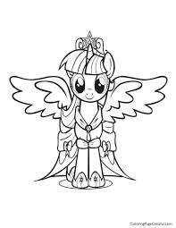 Small Picture My Little Pony Princess Twilight Sparkle 01 Coloring Page