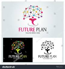 Plan Logo Design Future Plan Logo Design Template Brain Stock Vector Royalty