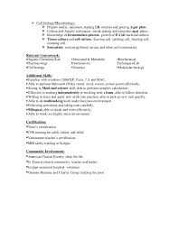 Microbiologist Resume Example Examples Of Resumes