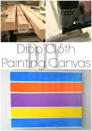 you can use drop cloths for so many fun projects including making your own painting
