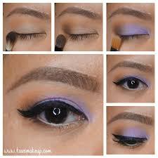 purple eye makeup for spring using mac beautiful iris kirei makeup