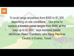 how much does it cost to install a new electrical panel? youtube how much does it cost to replace an electrical panel at Cost Of Replacing A Fuse Box