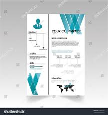 Vector Creative Minimalist Cv Resume Template Stock Vector