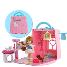 Mimiworld Korean toy mini pet handbag children\u0027s play house scene set Little girl birthday gift Meimei 4-6 years