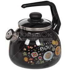 <b>Чайник эмалированный</b> СтальЭмаль Pasta 4с209я черный со ...