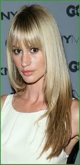 Medium Length Hairstyles Side Bangs Shoulder Length Haircut With
