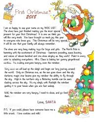 Babys First Christmas Letter From Santa Image 0 Free