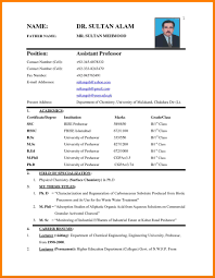 Biodata Samples For Job Meltemplates