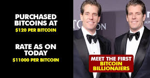 10 bitcoin millionaires — people who got rich from. Winklevoss Twins Used Facebook Payout To Become World S First Bitcoin Billionaires Here S How Rvcj Media