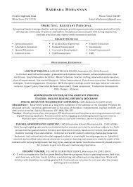 Bohannan Assistant Principal Resume Unique Assistant Principal Resume
