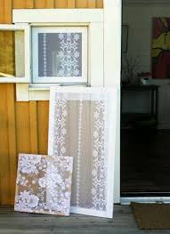 explore lace window window frame art and more this is too cool old lace curtains turned into