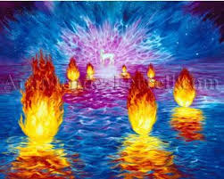 Image result for 7 lamps burning in heaven