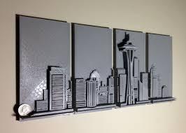 3d printed seattle skyline wall art 3d printing industry inside 3d metal wall art