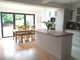 Kitchen Diner Flooring Kitchen Extension With Bifold Doors And Vaulted Roof With Velux