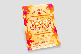 Free Thanksgiving Holiday Flyer Template Free Psd Templates