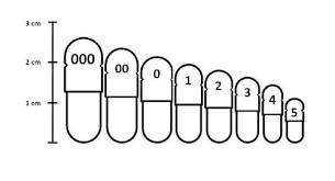 Healthvianature 1000 Empty White Gelatin Capsule Size 1