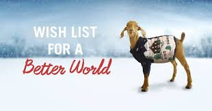 create a heifer holiday wish list page and let people know exactly which heifer gifts