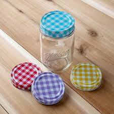 Decorative Mason Jar Lids Amazon Lily's Home Decorative Canning Lids for Mason Ball 3
