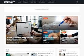 Blogger Templates 2020 Free Download Magify Responsive News Magazine Blogger
