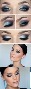 blue smoky eye makeup