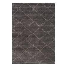 kalora maroq charcoal light grey diamonds soft touch area rug