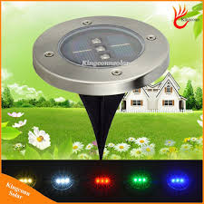 Red White Blue Solar Lights Hot Item Solar Light 3 Led Underground Lamp Solar Garden Lawn Light With Green Blue Red White Warm White Color