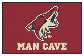 arizona coyotes man cave starter decor area rug 19 x 30 arizona coyotes merchandise