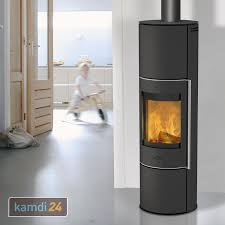Fireplace Trondol Wasserführender Kaminofen Stahl Schwarz