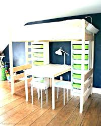 bunk bed with slide and desk. Desk Bed Ikea Loft With Slide Queen Bunk  Bedroom . And 0