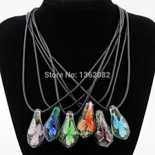 charming flower noctilucent lampwork glass pendants drop murano glass necklace choker for girl women s jewelry mn568 uk 2019 from greenliv