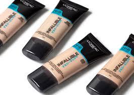 l oréal paris infallible pro glow foundation 201 202 203 204 205 review oily