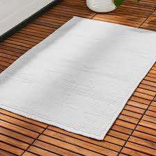 baxter white cotton bath mat