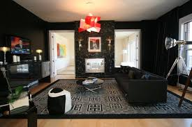 man cave | Red, black and gray proves a classic man cave color scheme,