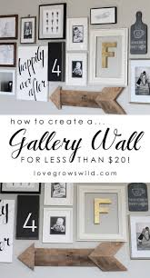 rustic parlor style gallery wall