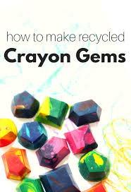 How To Make Recycled Crayon Gems No Time For Flash Cards