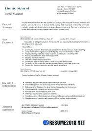 Dental Assistant Resume Objectives Resume For Dental Assistant
