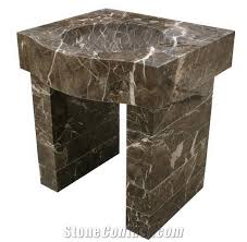 Marble pedestal sink Bathroom Vanity Emperador Marble Pedestal Sink Wayfair Emperador Marble Pedestal Sink From China Stonecontactcom