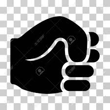 Fist Transparent Background Fist Icon Vector Illustration Style Is Flat Iconic Symbol Black