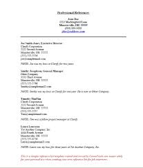 resume reference page template reference list template sample ...