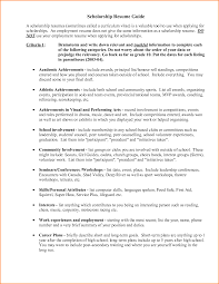 College Scholarship Resume Examples Examples Of Resumes