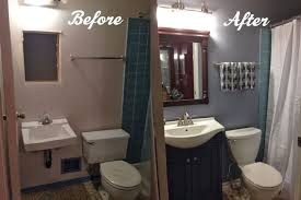 Small Picture before and after diy installation best 25 cheap bathroom remodel