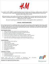 Merchandising Resume Visual Merchandising Resume Sample Foodcity Me